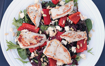 Chicken Roasted Capsicum Salad